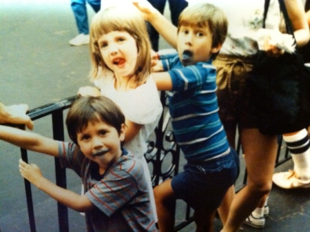 """The boys and I around the time of """"Chase Justine."""" Wait, was I bigger than them?"""